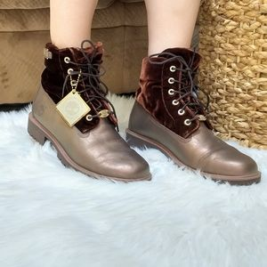 Timberland leather metallic brown bronze v…